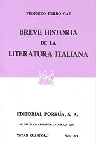 9789684326149: Breve Historia De La Literatura Italiana