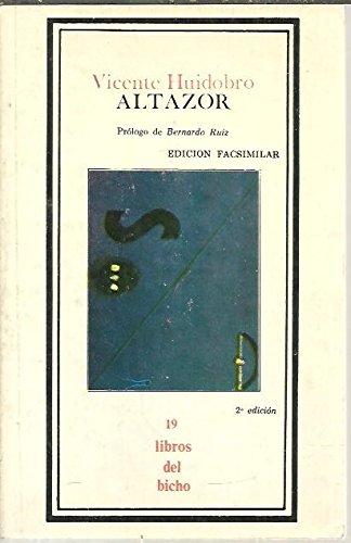 9789684341883: Altazor (Libros del bicho)