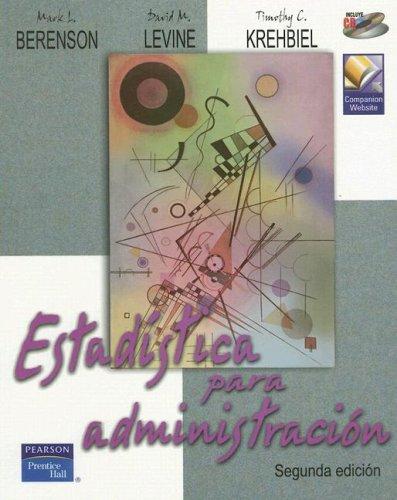 Estadistica para Administracion: Timothy C. Krehbiel;