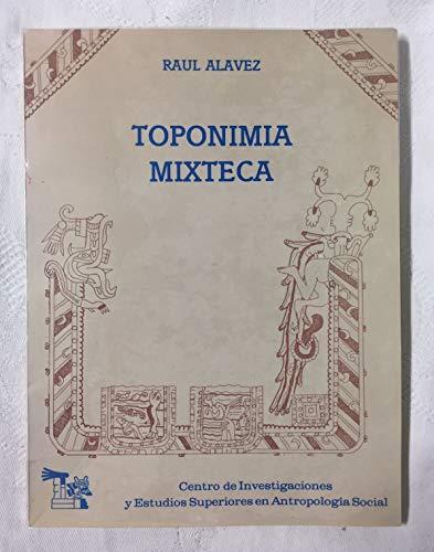 9789684961326: Toponimia mixteca (Spanish Edition)