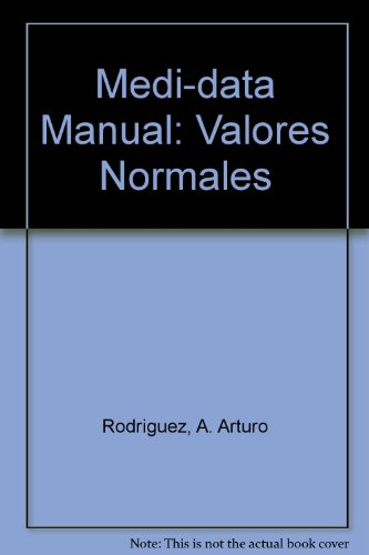 9789685325240: Medi-data Manual: Valores Normales (Spanish Edition)