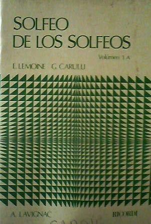 SOLFEO DE LOS SOLFEOS VOL. 1A