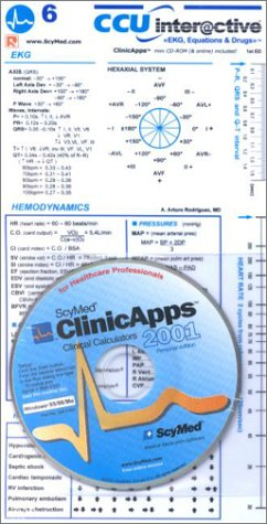 9789686277852: CCU Interactive: EKG, Equations & Drugs Interactive 2001: Interactive Clinical Applets for Healthcare Professionals (Card with mini CD-ROM for Windows 95/98/00/ME)