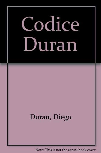 9789686573008: Códice Duran (Spanish Edition)