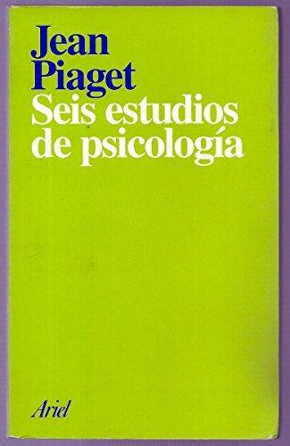 9789686640243: Seis estudios de psicología