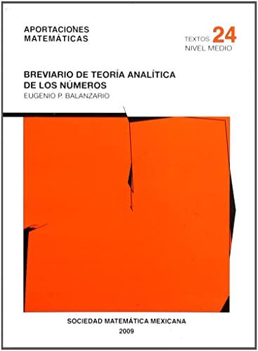 9789686708776: Breviario de teoria analitica de los numeros/ Brief of Analitical Theory of Number (Spanish Edition)