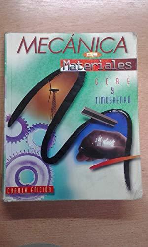 Mecanica de materiales: Gere Y Timoshenko
