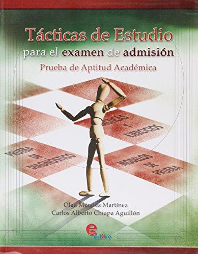 9789687903590: TACTICAS DE ESTUDIO PARA EL EXAMEN DE ADMISION