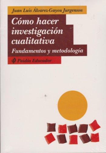 9789688535165: Como hacer investigacion cualitativa (Educador / Educator)