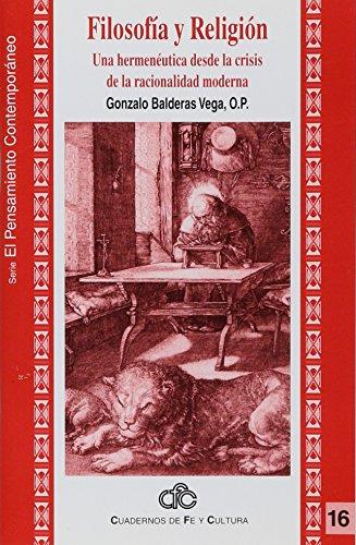 Filosofía y religión. Una herme [Paperback] by