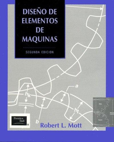 9789688805756: Diseno de Elementos de Maquinas - 2b0 Edicion (Spanish Edition)