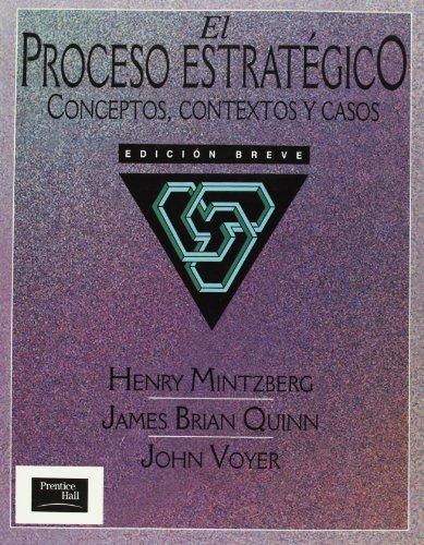 9789688808290: Proceso Estrategico, El - Conceptos, Contextos (Spanish Edition)