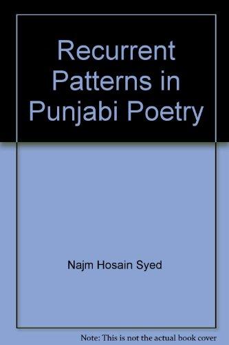 9789698380700: Recurrent Patterns in Punjabi Poetry