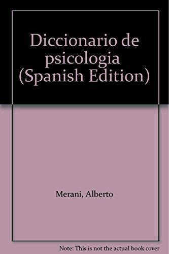 Diccionario de Psicologia.: Merani, Alberto:
