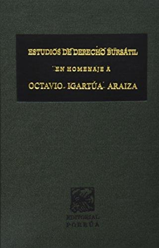 9789700710006: ESTUDIOS DE DERECHO BURSATIL EN HOMENAJE A OCTAVIO IGARTUA A