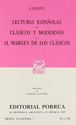 LECTURAS ESPAÑOLAS * CLASICOS Y MODERNOS *: AZORIN