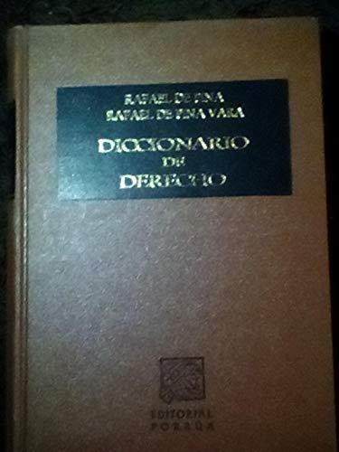 Diccionario de derecho (Spanish Edition): Rafael de Pina