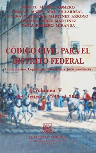 CODIGO CIVIL PARA EL DISTRITO FEDERAL 5: ACOSTA ROMERO, MIGUEL