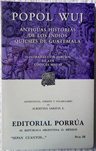 POPOL VUH. -S/C.36-: Albertina Saravia E.
