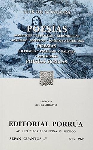 Poesías (Paperback): Gongora y Argote,