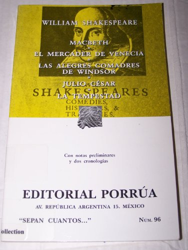 Macbeth el mercader de Venecia/ Macbeth The: Shakespeare, William