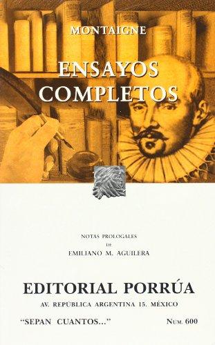 Ensayos Completos De Michel De Montaigne (Coleccion: Montaigne, Michael De