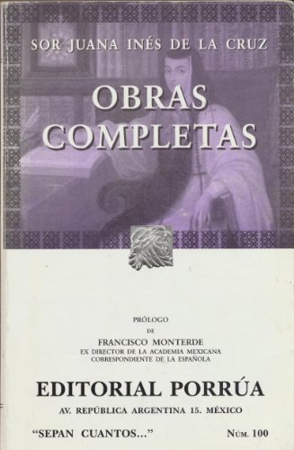 9789700750552: Obras completas de Sor Juana Ines de la Cruz (Spanish Edition)