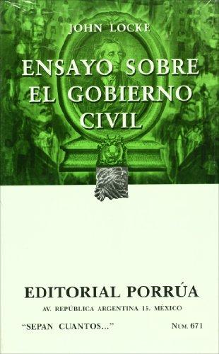 Ensayo Sobre El Gobierno Civil Sepan Cuantos John Locke