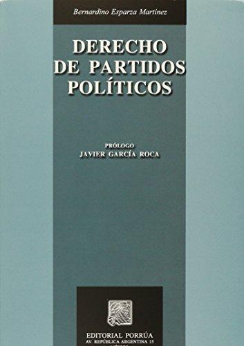 9789700763897: Derecho de Partidos Politicos (Spanish Edition)
