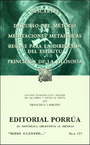 9789700765204: Discurso del metodo (Sepan Cuantos # 177) (Spanish Edition)