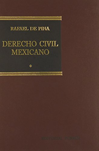 9789700765921: DERECHO CIVIL MEXICANO 1 INTRODUCCION PERSONAS FAMILIA
