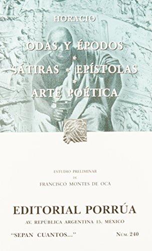 9789700767413: # 240. odas y epodos / satiras / epistolas / arte poetica