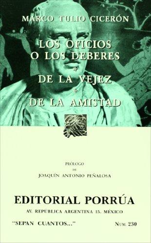 Los oficios o los deberes/ De la: Ciceron, Marco Tulio