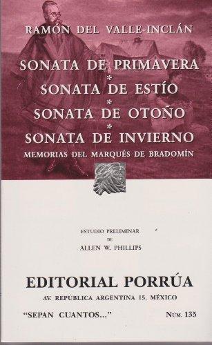 9789700769370: Sonata de primavera. Sonata de estio, Sonata de otono. Sonata de invierno (Spanish Edition)