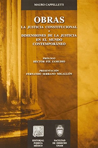 OBRAS LA JUSTICIA CONSTITUCIONAL: CAPPELLETTI, MAURO