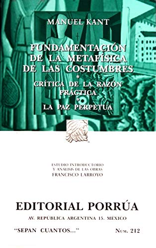 Fundamentación de la metafísica: MANUEL, KANT