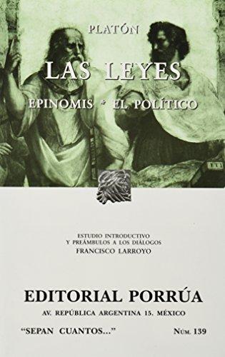 9789700773872: Las leyes. Epinomis. El polític