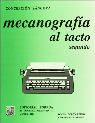 9789700774619: MECANOGRAFIA AL TACTO 2