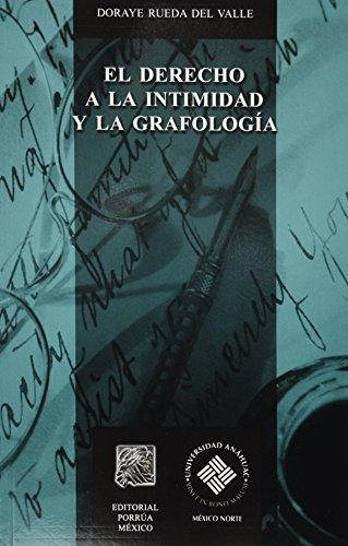 El Derecho a la Intimidad y La Grafologia (Spanish Edition): Doraye Rueda Del Valle