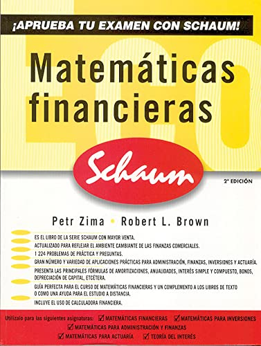 Matematicas Financieras: Brown, Robert/ Zima,