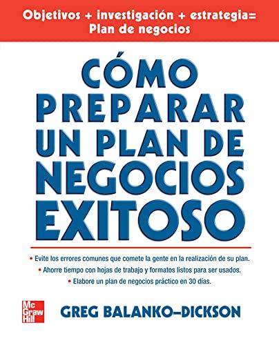 9789701062982: Como Preparar Un Plan De Negocios Exitoso (Spanish Edition)