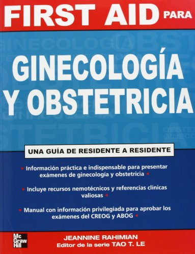 9789701063972: FIRST AID PARA GINECOLOGIA Y OBSTETRICIA UNA GUIA DE