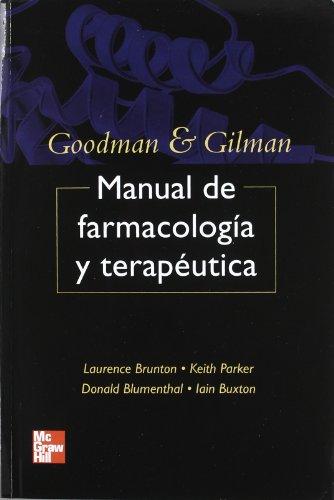 9789701066782: Goodman and Gilman manual de farmacologia y terapeutica