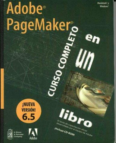 9789701700327: Adobe PageMaker 6.5 Curso Completo en un libro