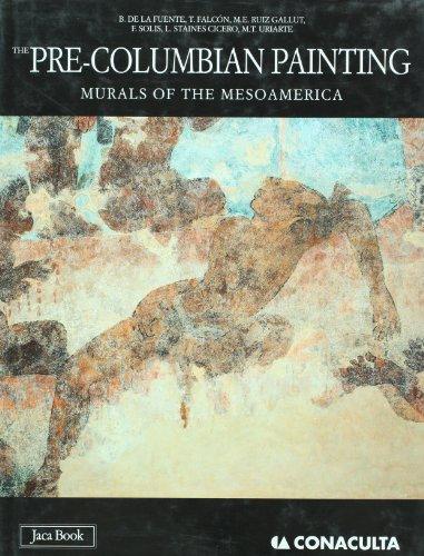 The Pre-Columbian painting. Mural of the Mesoamerica: Beatriz de la