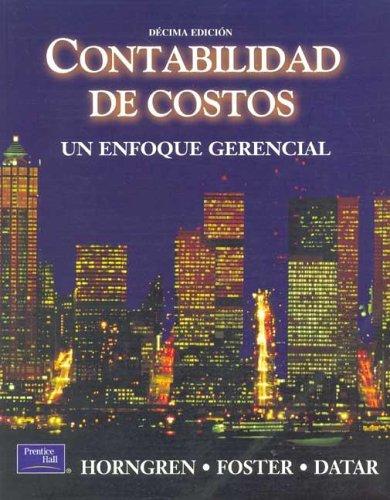 9789702600961: Contabilidad de Costos - 10b: Edicion (Spanish Edition)