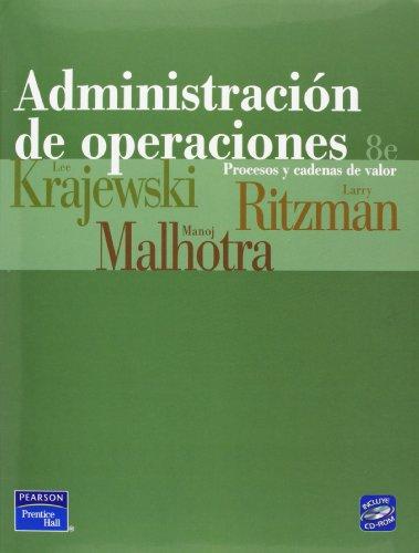Administracion de Operaciones: Procesos y Cadenas de Valor, 8/ed.: KRAJEWSKI, LEE