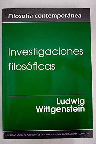 9789703207053: INVESTIGACIONES FILOSOFICAS