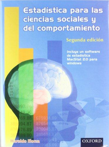 9789706131812: Estadística para las ciencias sociales y del comportamiento 2a Edición. Con software de estadística MacStat 2.0 para Windows (Spanish Edition)