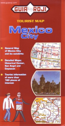 9789706215482: Mexico City Tourist Map in English by Guia Roji